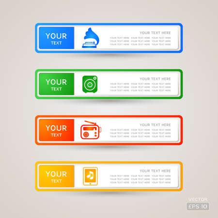 Sticker Label music set Stock Vector - 21963349