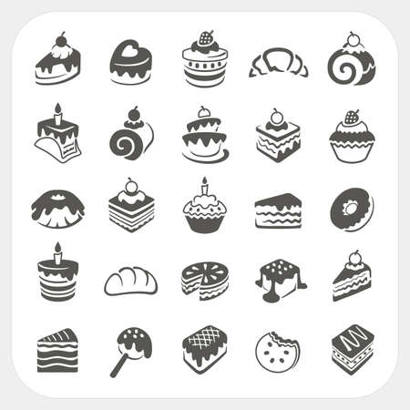 Cakes and dessert set Vector