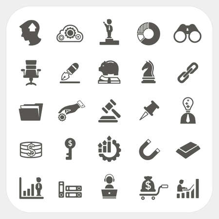 Business and finance icons set, EPS10, Dont use transparency.