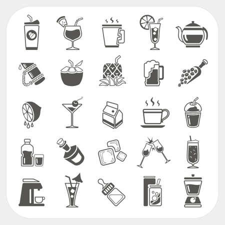 Iconos Bebidas establecen Vectores