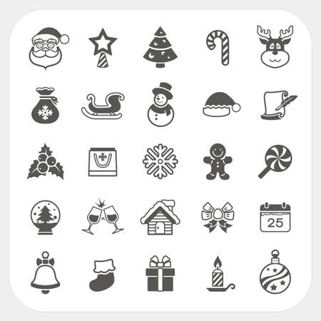 Christmas and Winter icons set, Vector