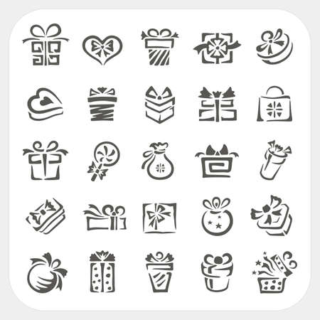 Gift box icons set, Vector