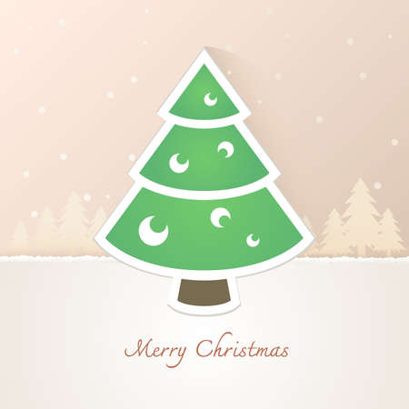 stove pipe: Christmas tree paper with snow background