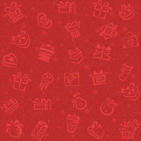 dekorativa mönster: Jul bakgrund med presentlåda