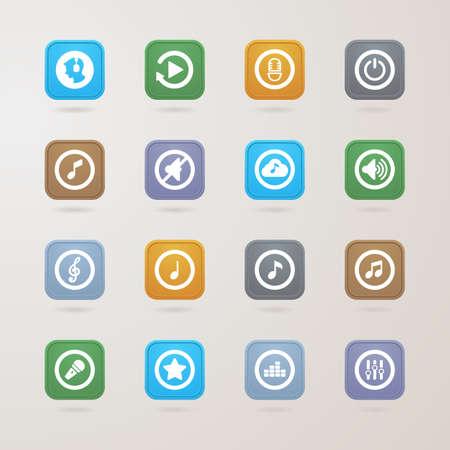 control tools: Music icons set