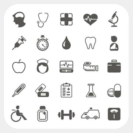 医療と健康のアイコンを設定  イラスト・ベクター素材