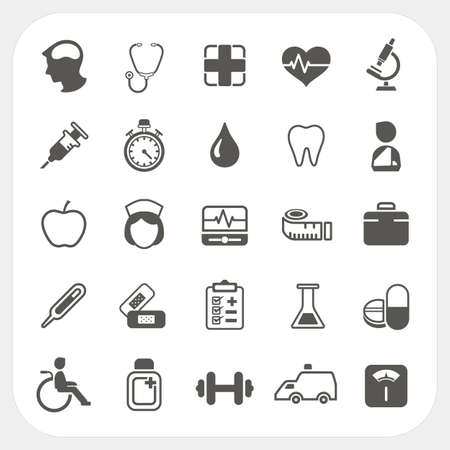 radiography: Medical and health icons set