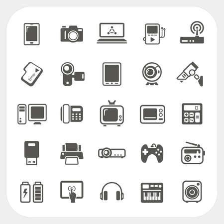 phone system: Electronic Device icons set Illustration
