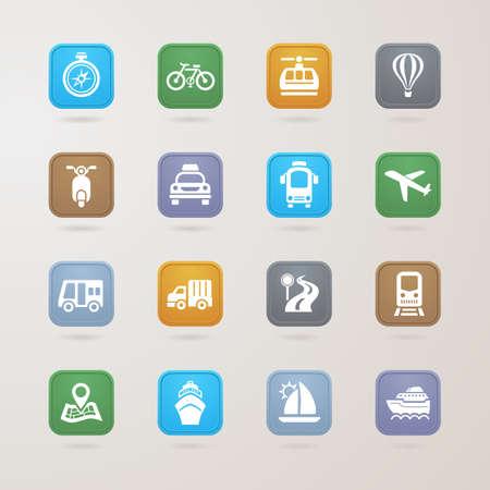 Vervoer pictogrammen instellen