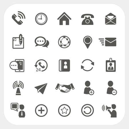 Communication Icons Standard-Bild - 25468397