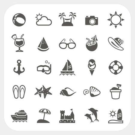 Sommer Symbole gesetzt Standard-Bild - 25468409
