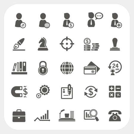 Iconos de negocios, recursos humanos y finanzas fijaron Vectores