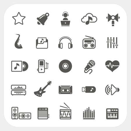 Conjunto de iconos de m�sica