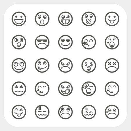 Emotie gezicht pictogrammen instellen