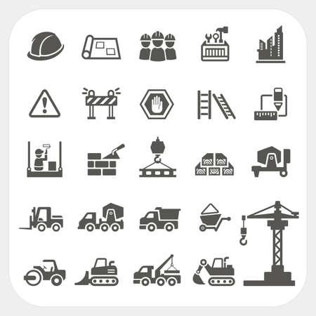 Iconos de la construcci�n establecidas