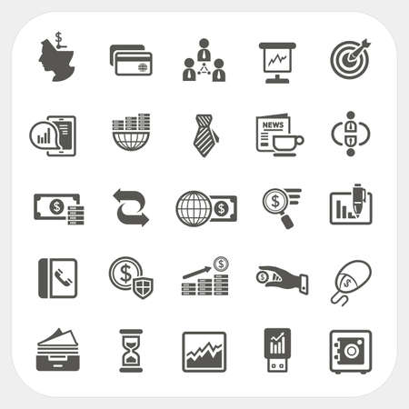 Business and finance icons set Illustration