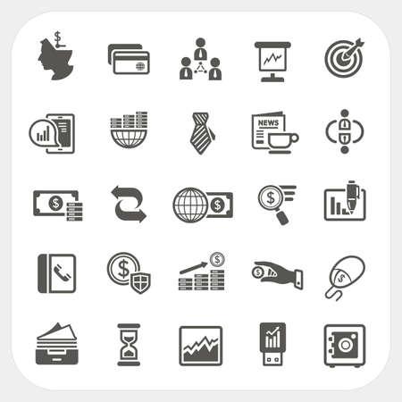 Zakelijke en financiële pictogrammen instellen