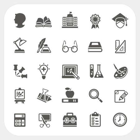 Iconos de la educaci�n establecidos