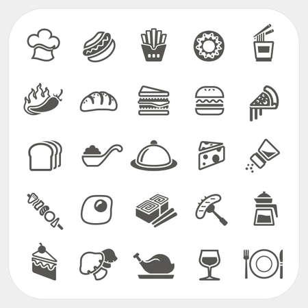 Food icons gesetzt Standard-Bild - 26532801