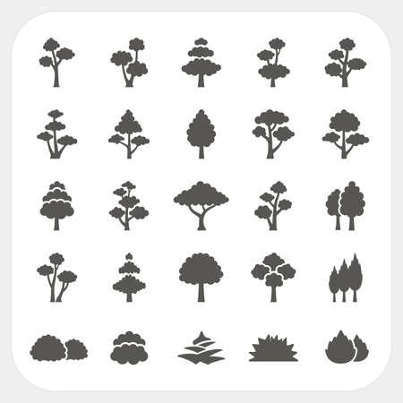 Tree icons set