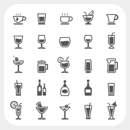 beer glass: Drink and Beverage icons set