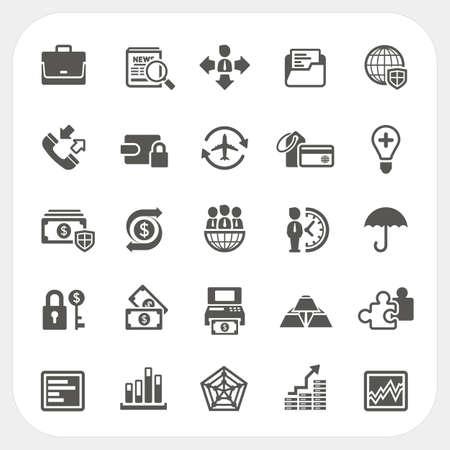 construction management: Affari e finanza set di icone