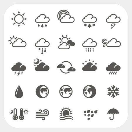 Iconos del tiempo fijados, vector Vectores