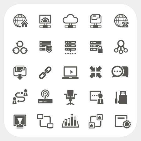 Network icons set, vector Illustration
