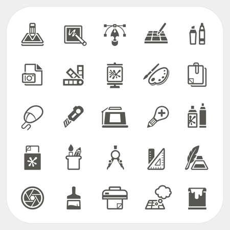 grafisch ontwerp: Grafisch ontwerp iconen set, vector Stock Illustratie