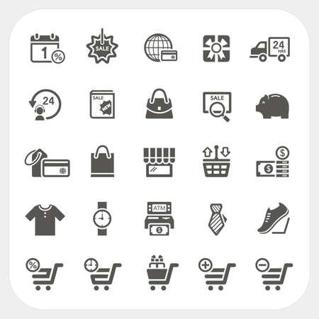 Shopping icons set, vector Vector