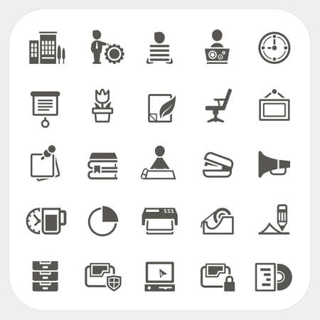 disk break: Business and Office icons set, vector Illustration