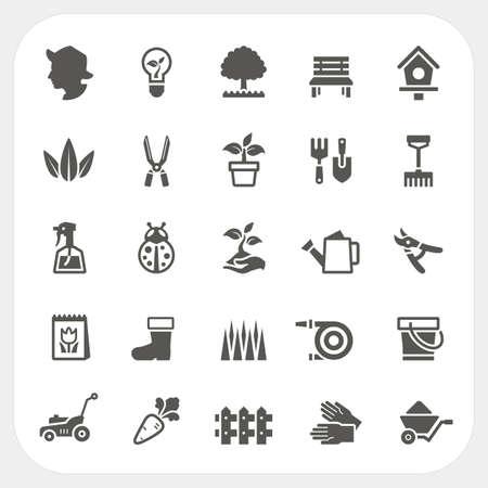Tuinieren icons set