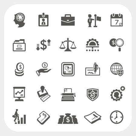 fairly: Business and finance icons set, vector