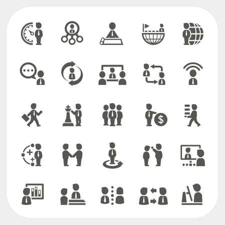 Management en Business pictogrammen set, vector