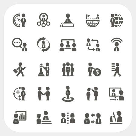 Management and Business icons set, vector Illustration
