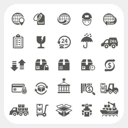 Logistiek en Scheepvaart iconen set, vector