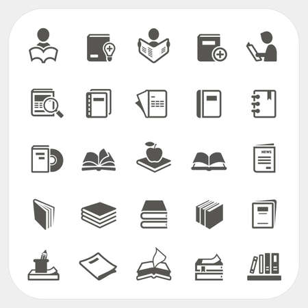 e book: Book icons set, Vector