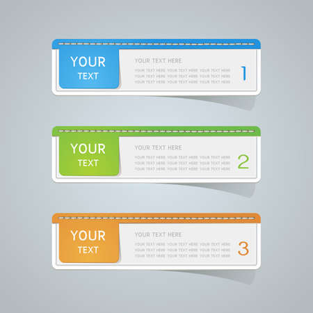 Sticker label paper colorful set, Vector Illustration