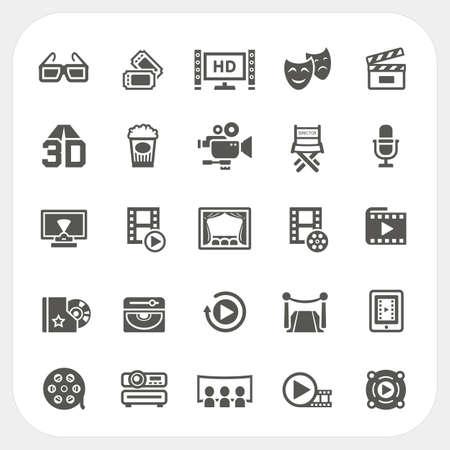 Movie icons set, Vector