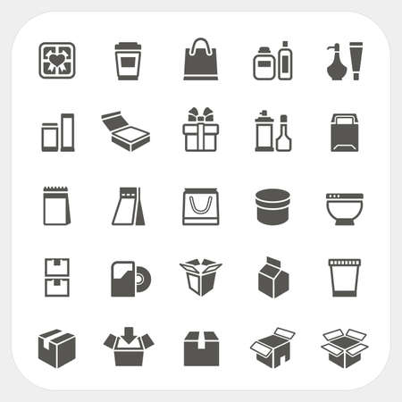 Packaging icons set, Vector
