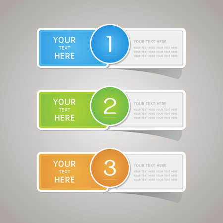 sticker vector: Sticker label paper colorful set, Vector Illustration