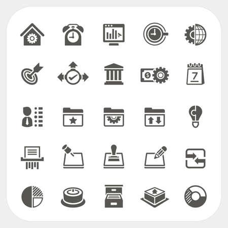 ビジネスやオフィスのアイコン セット、ベクトル  イラスト・ベクター素材