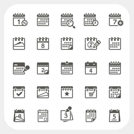 calendar icon: Calendar icons set