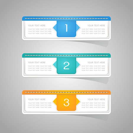 Etiqueta de papel etiqueta de conjunto de colores