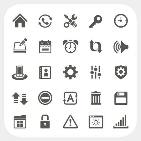 trackpad: Setting icons set Illustration