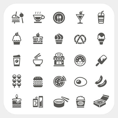 ramen: Food and Beverage icons set Illustration