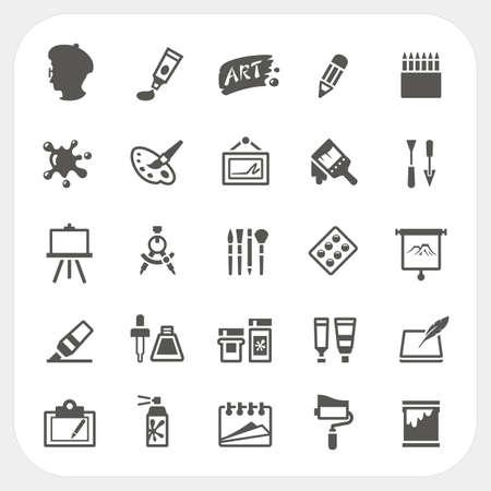 Icônes de l'art définies Banque d'images - 31671745