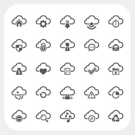 Iconos Nube establecen