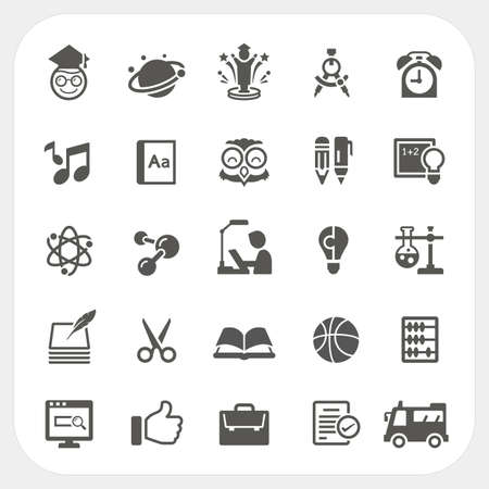 thumb up: Education icons set