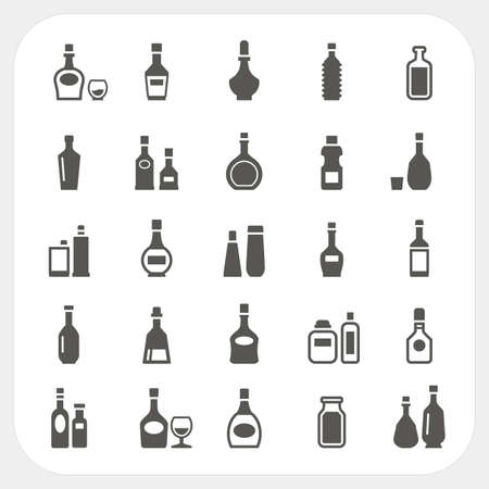 drink bottle: Bottle icons set